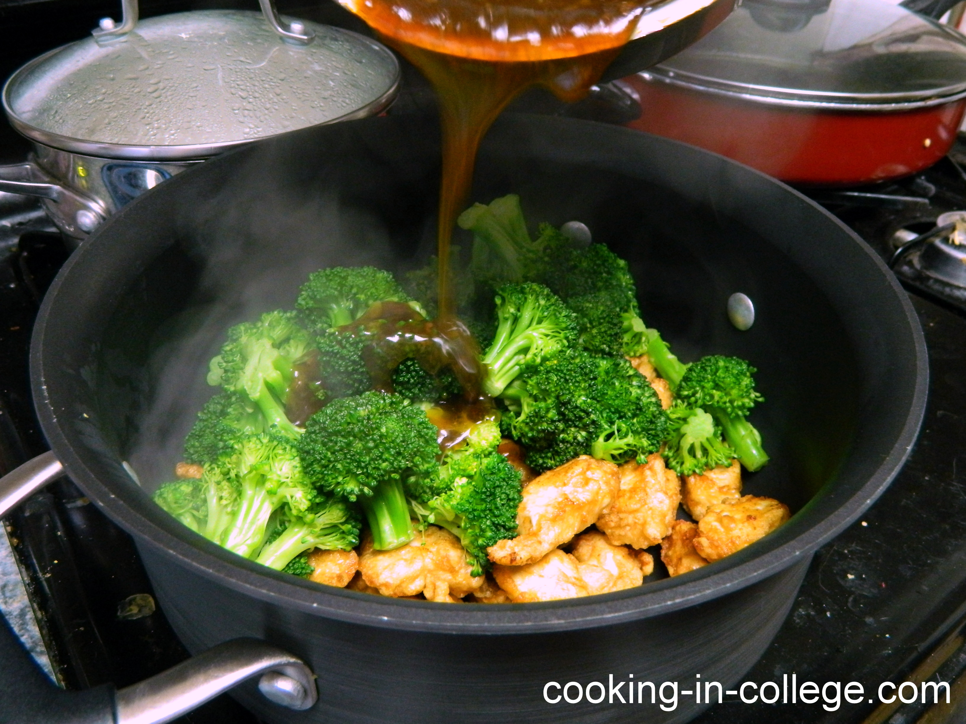 how to make steamed broccoli in a rice cooker