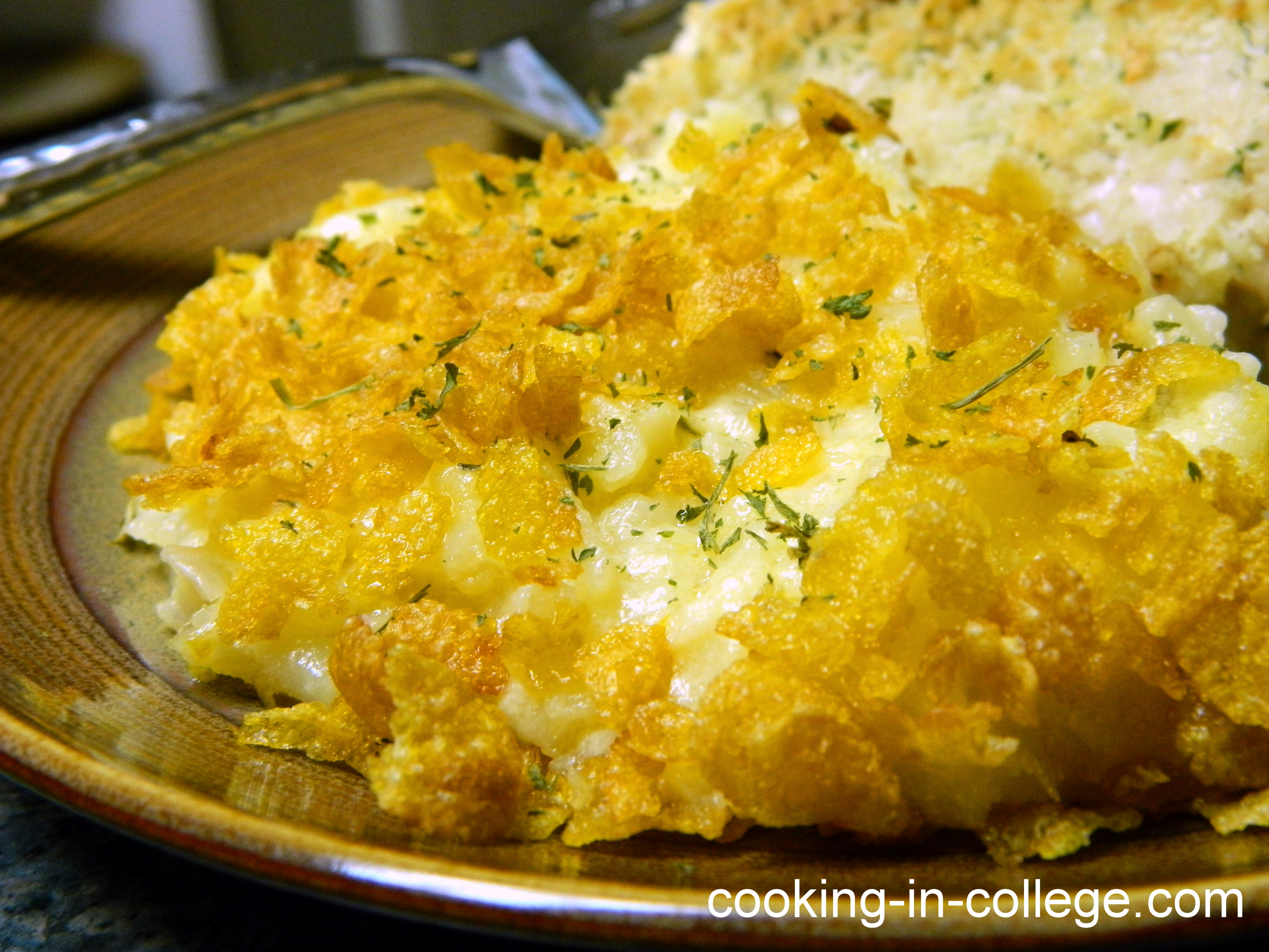 Cooking in College - Cheesy Potato Casserole