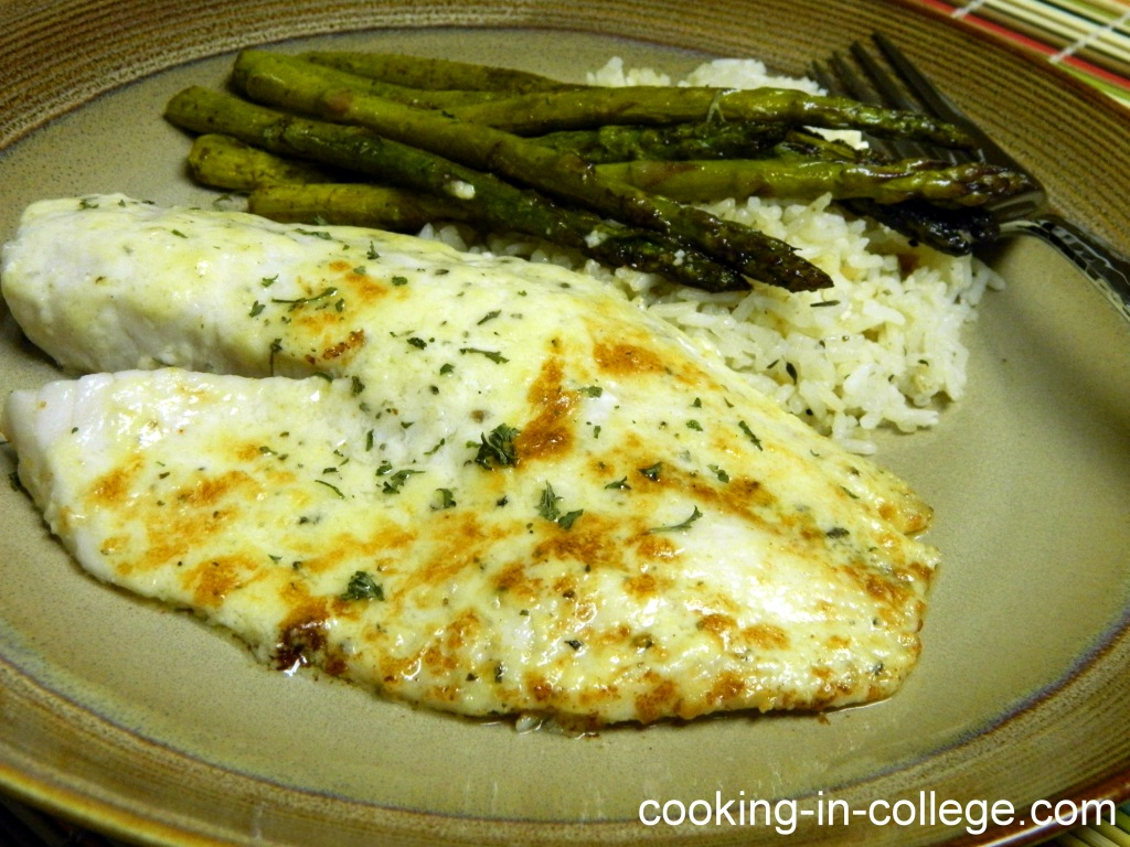 Tilapia Parmesan - Cooking in College