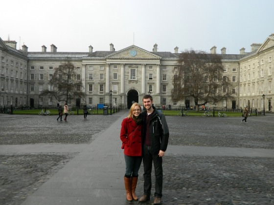 Walking around Trinity College