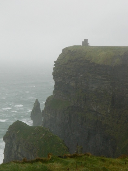 The Cliffs of Moher - the highest winds we have ever experienced!
