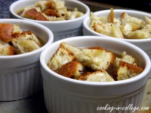 We used homemade croutons