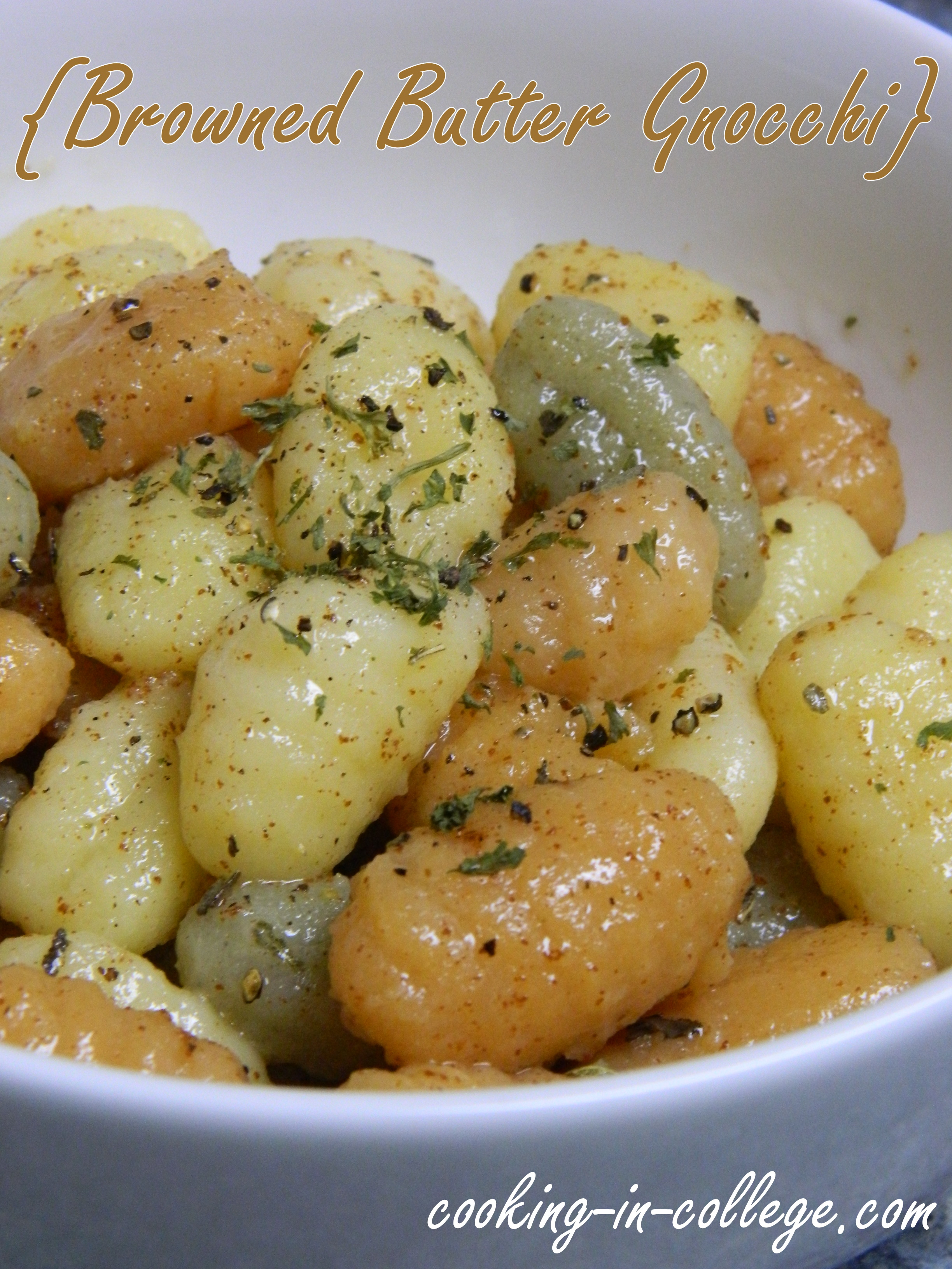 Browned Butter Gnocchi - Cooking in College