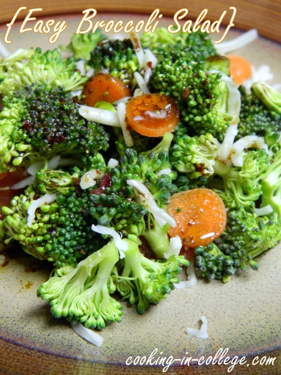 Easy Broccoli Salad - Cooking in College