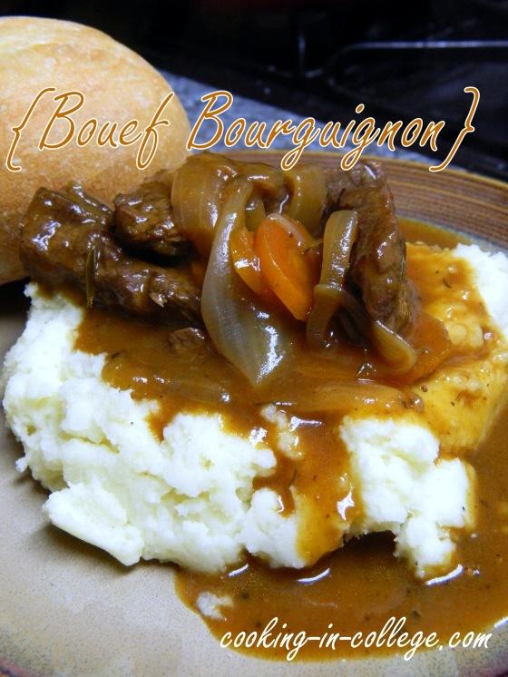 Cooking in College - Boeuf Bourguignon