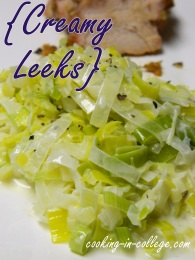 Creamy Leeks - Cooking in College